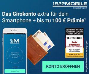 1822Mobile Girokonto nur per Smartphone