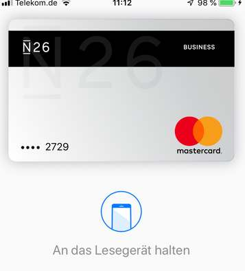 Apple-Pay Smartphone Zahlung bei Aral