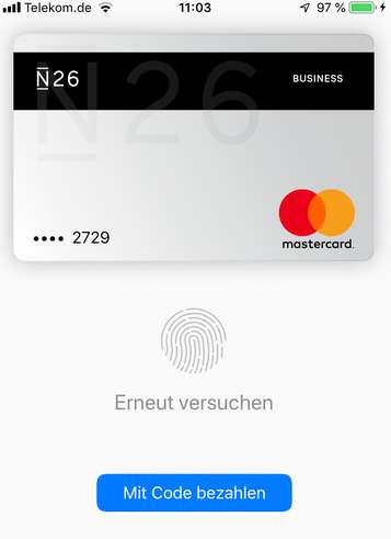 Apple-Pay mit Touch-ID legitimieren