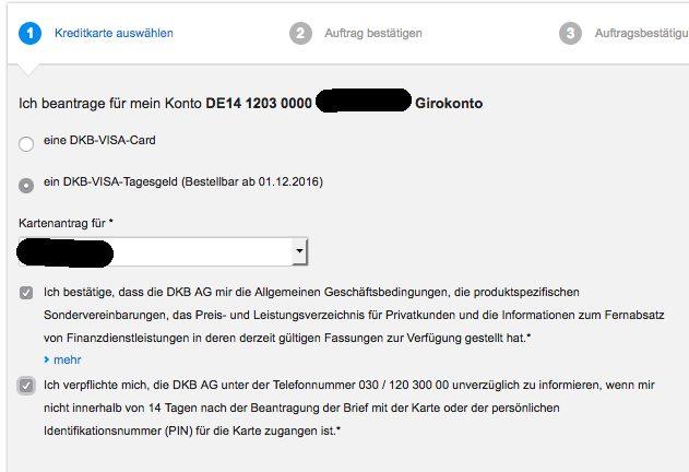 DKB Tagesgeldkonto beantragen