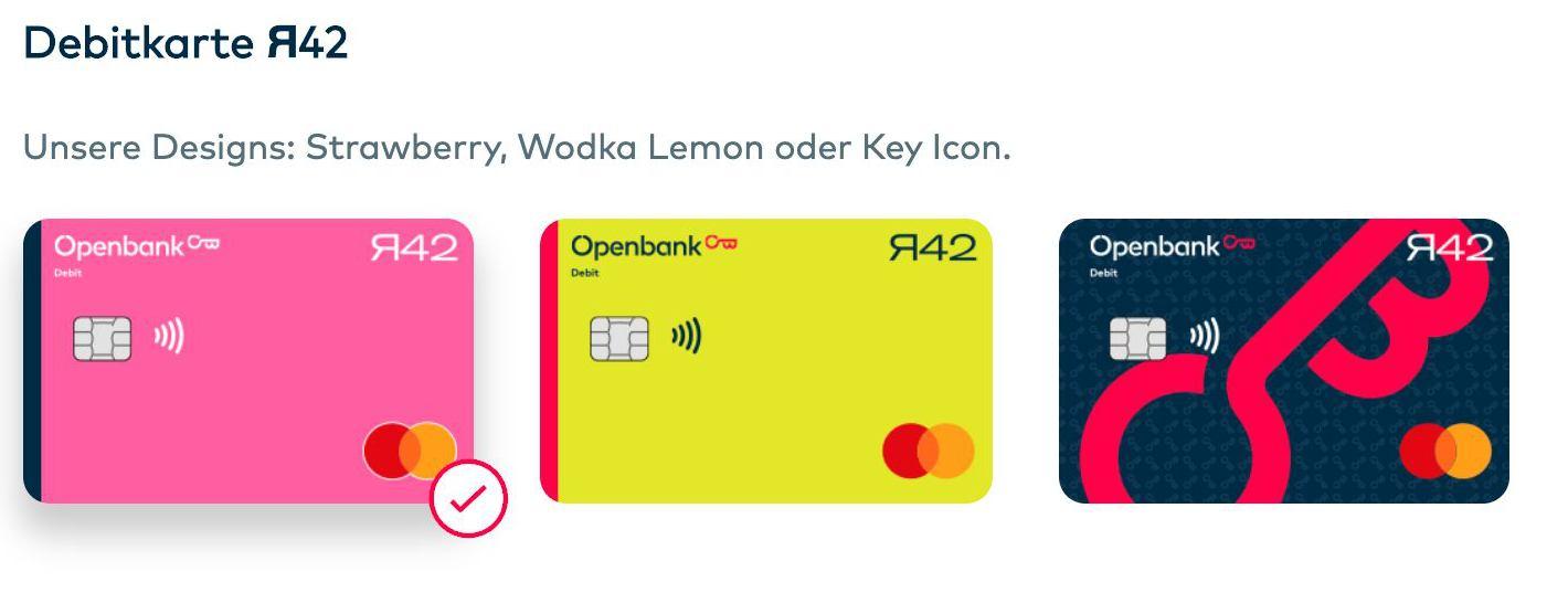 openbank r42 Debitkarte